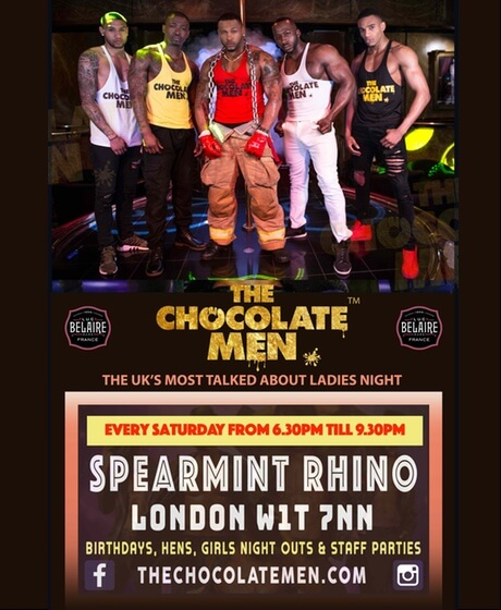 The Chocolate Men Every Saturday Evening